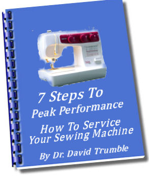 7 Steps to Peak Performance email sewing machine repair training.